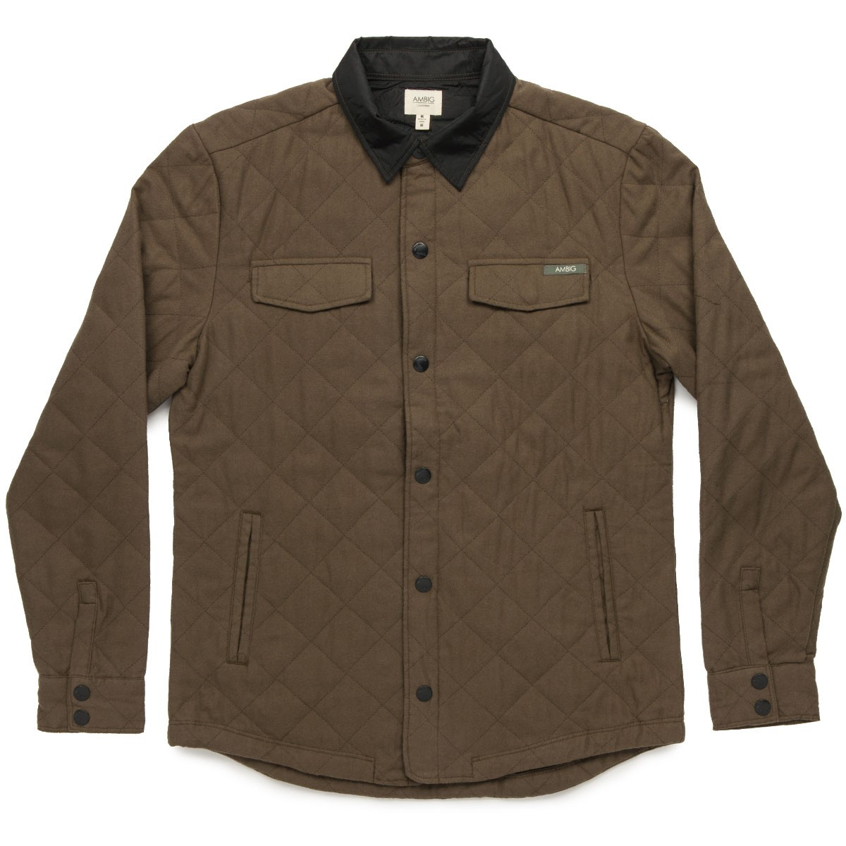 Ambig Ernie Quilted Jacket Olive