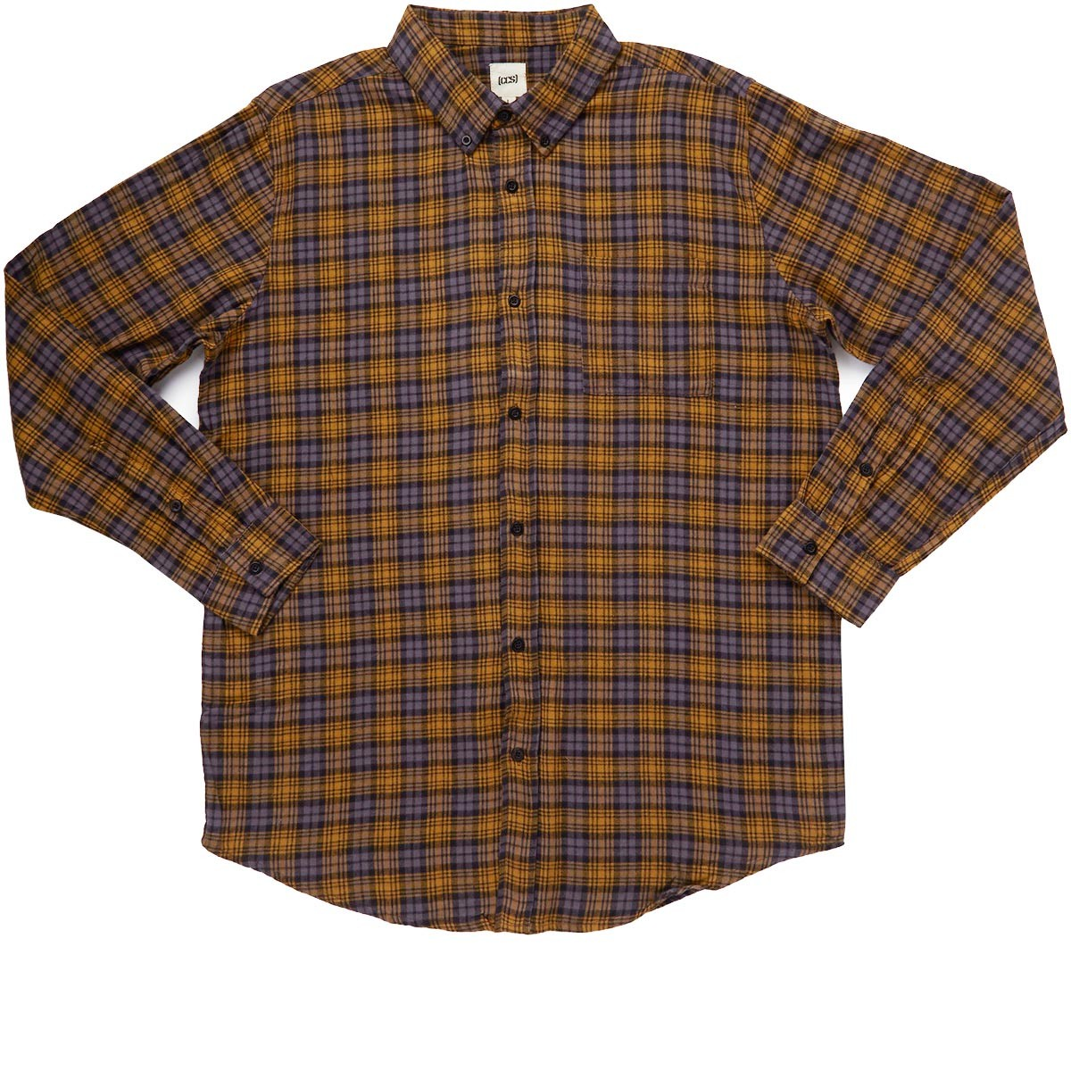 Ccs Flannel Long Sleeve Shirt Badlands Grey Plaid