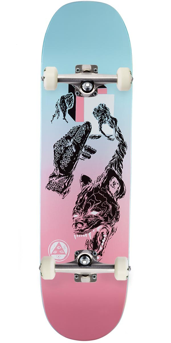 """Welcome Face of a Lover on Moontrimmer 2.0 Skateboard Complete - Pink/Blue - 8.5"""""""