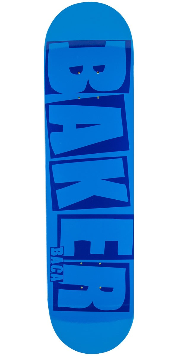 Baker Baca Brand Name Skateboard Deck - Blue - 8.0""