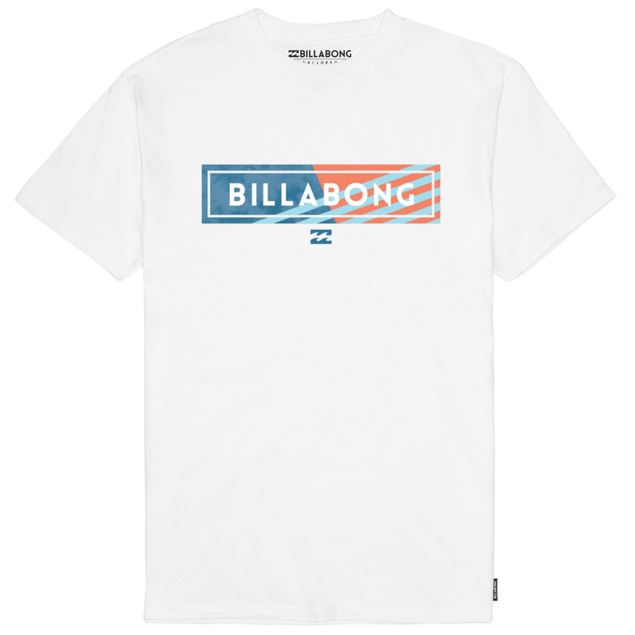 billabong tshirt  Billabong Blocked T-Shirt - White