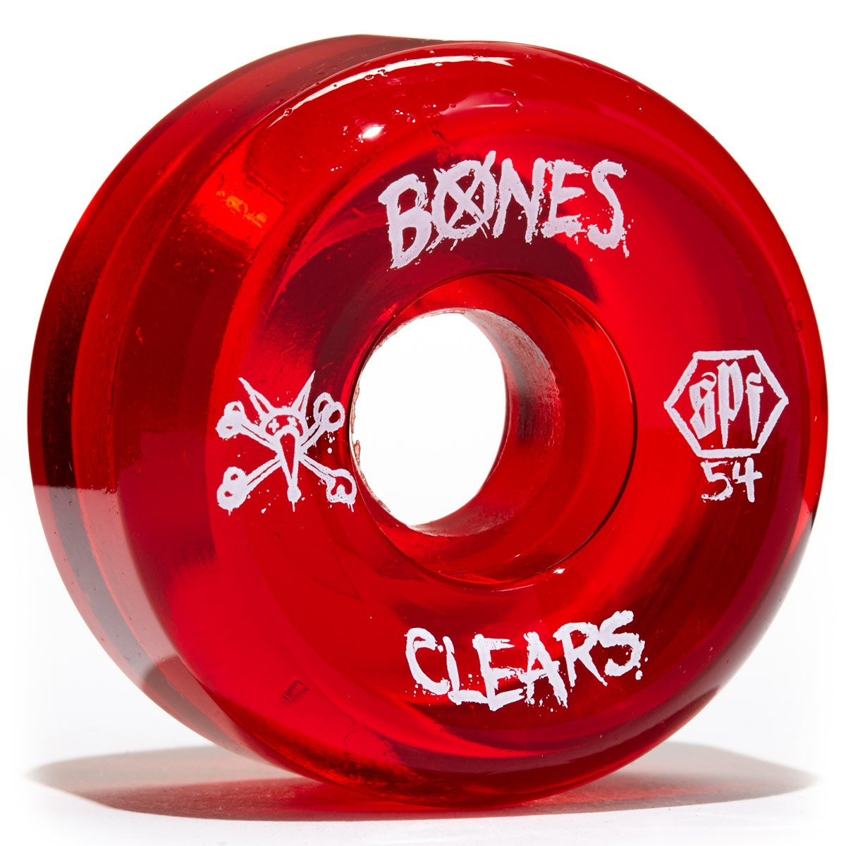 Bones SPF Skateboard Wheels - Clear Red