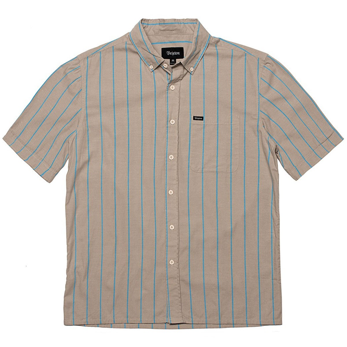 Brixton Cadet Short Sleeve Woven Shirt - Grey/Blue