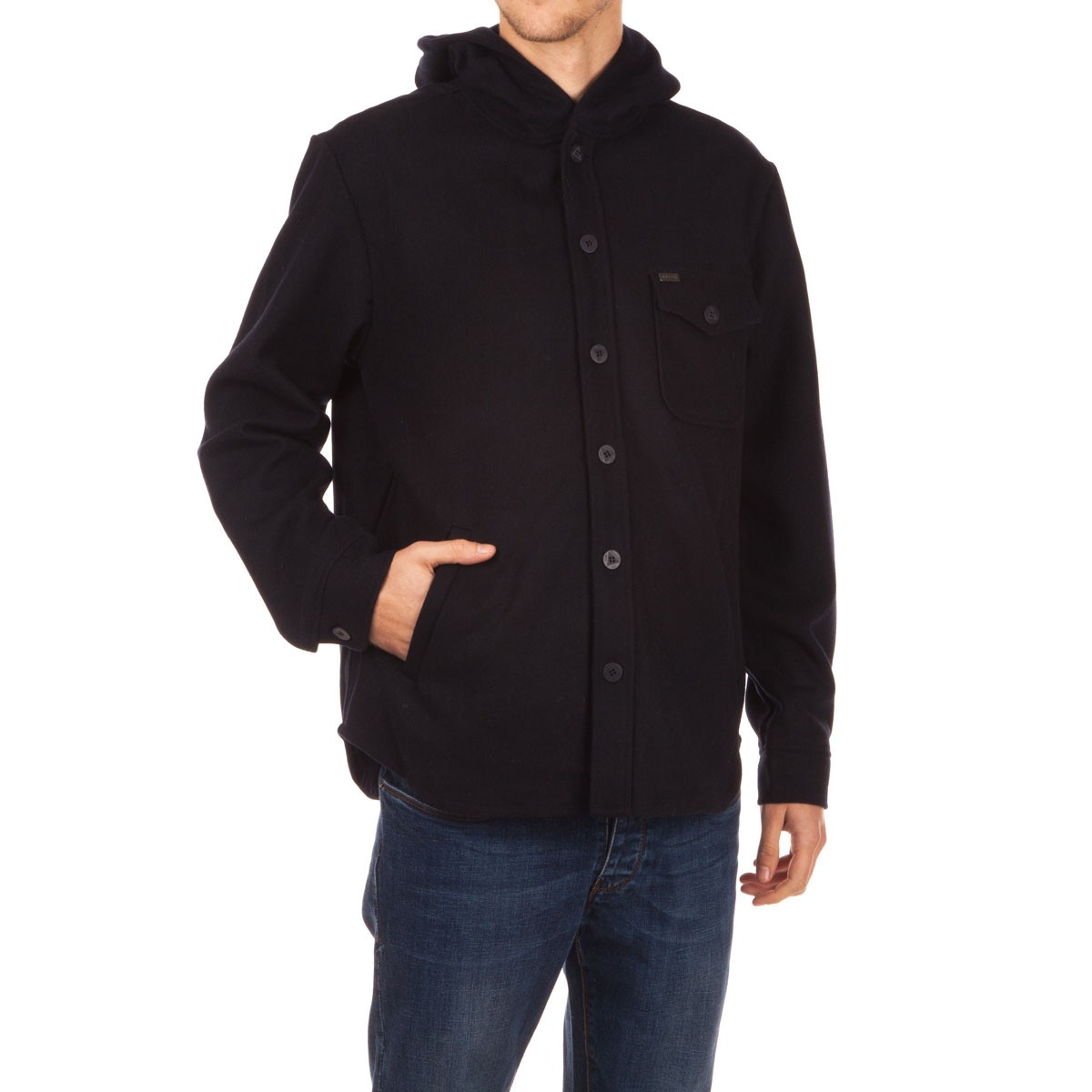 Brixton Compass Hooded Jacket - Navy