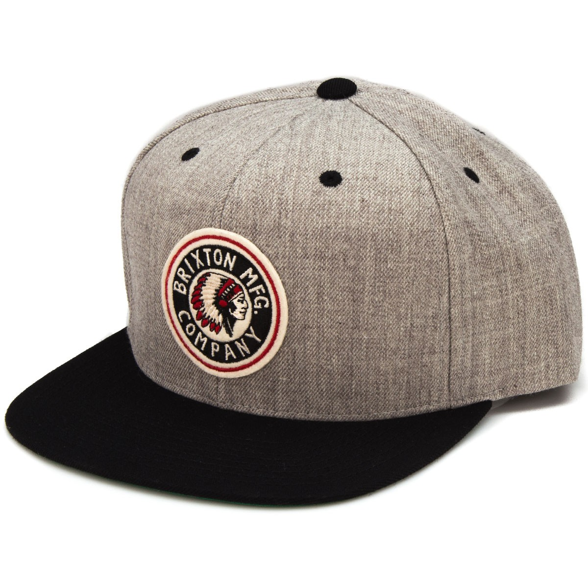 44bcaf541d4 ... reduced brixton rival snap back hat light heather grey black 1e740 817e1