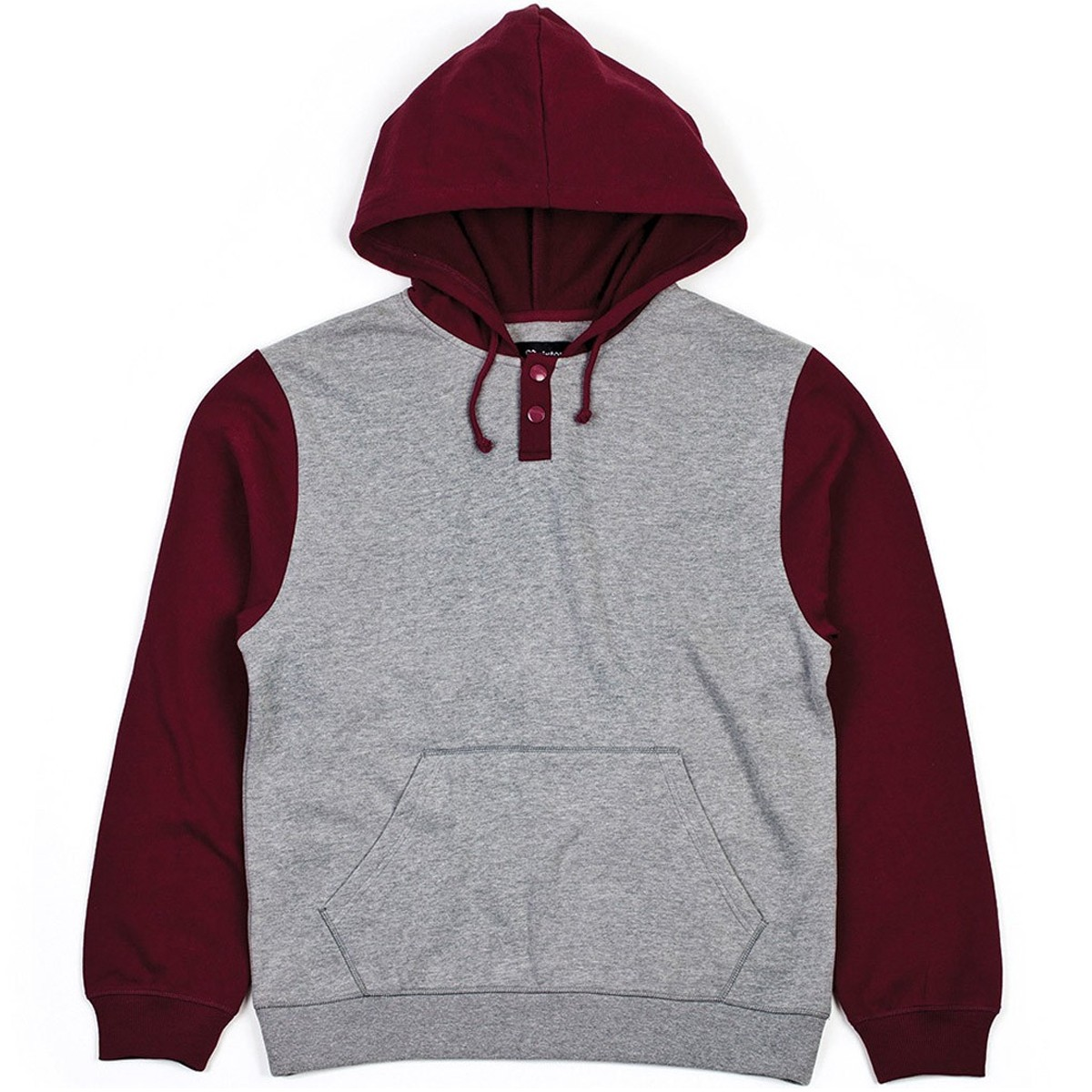 Brixton Syd II Fleece - Heather Grey   Maroon a0ddd066fef7