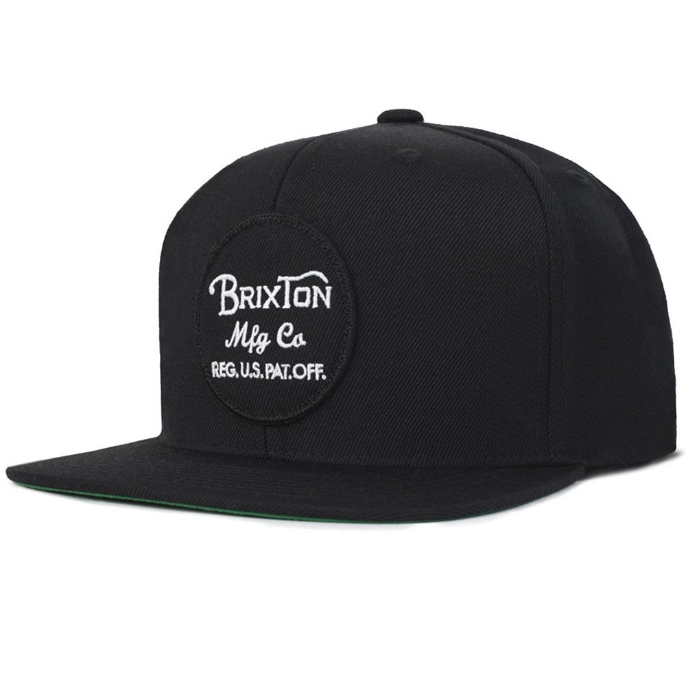 Brixton Wheeler Snap Back Hat - Black