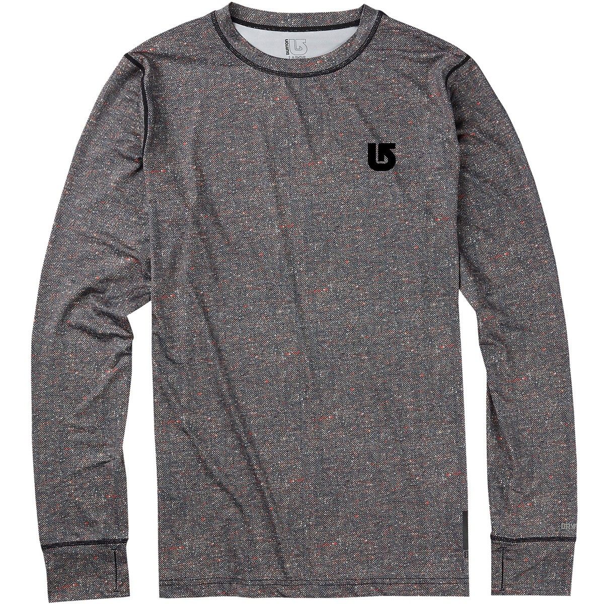 Burton Lightweight Crew Snowboard Base Layer - Herringbone Print