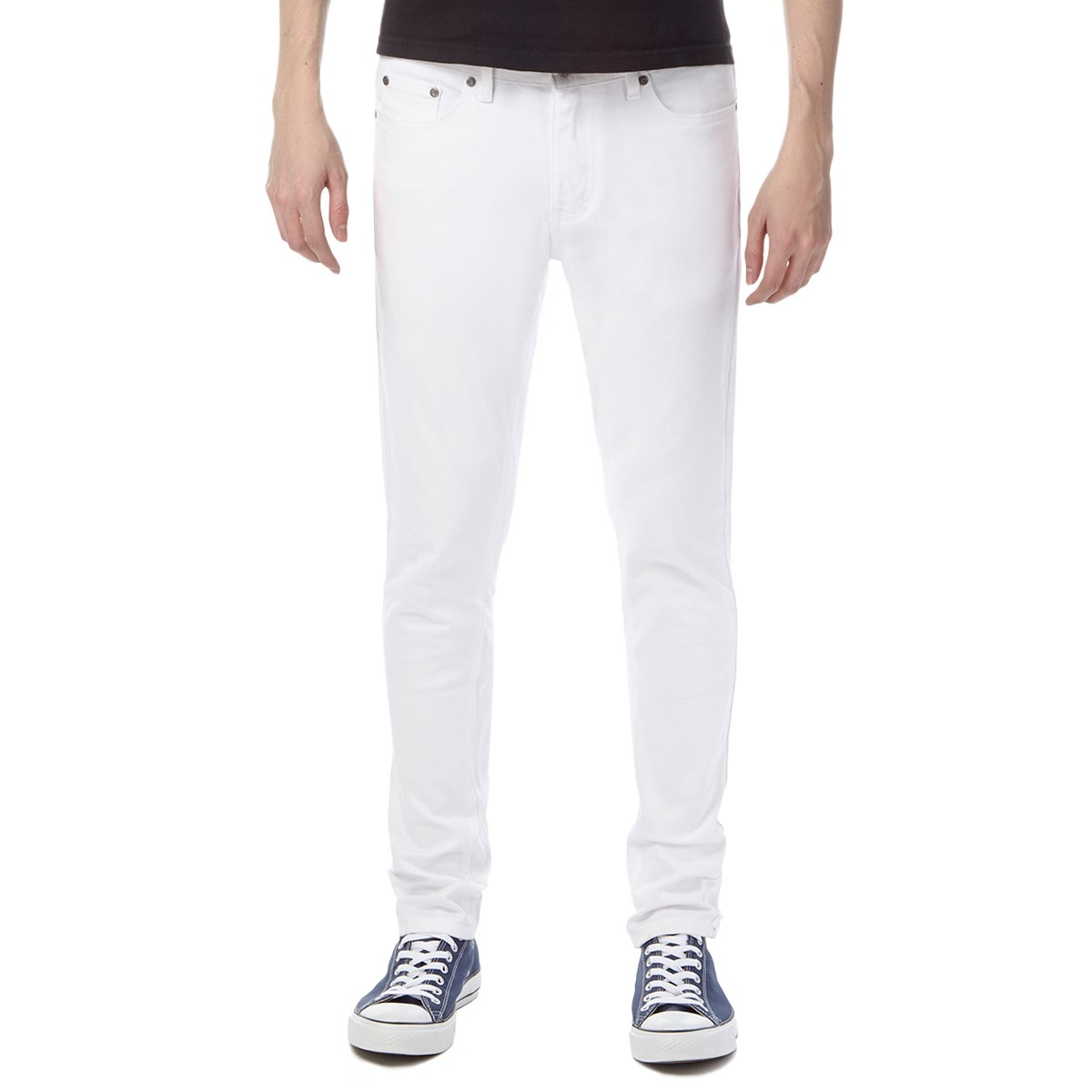 Banks OG Skinny Jeans - White Distressed