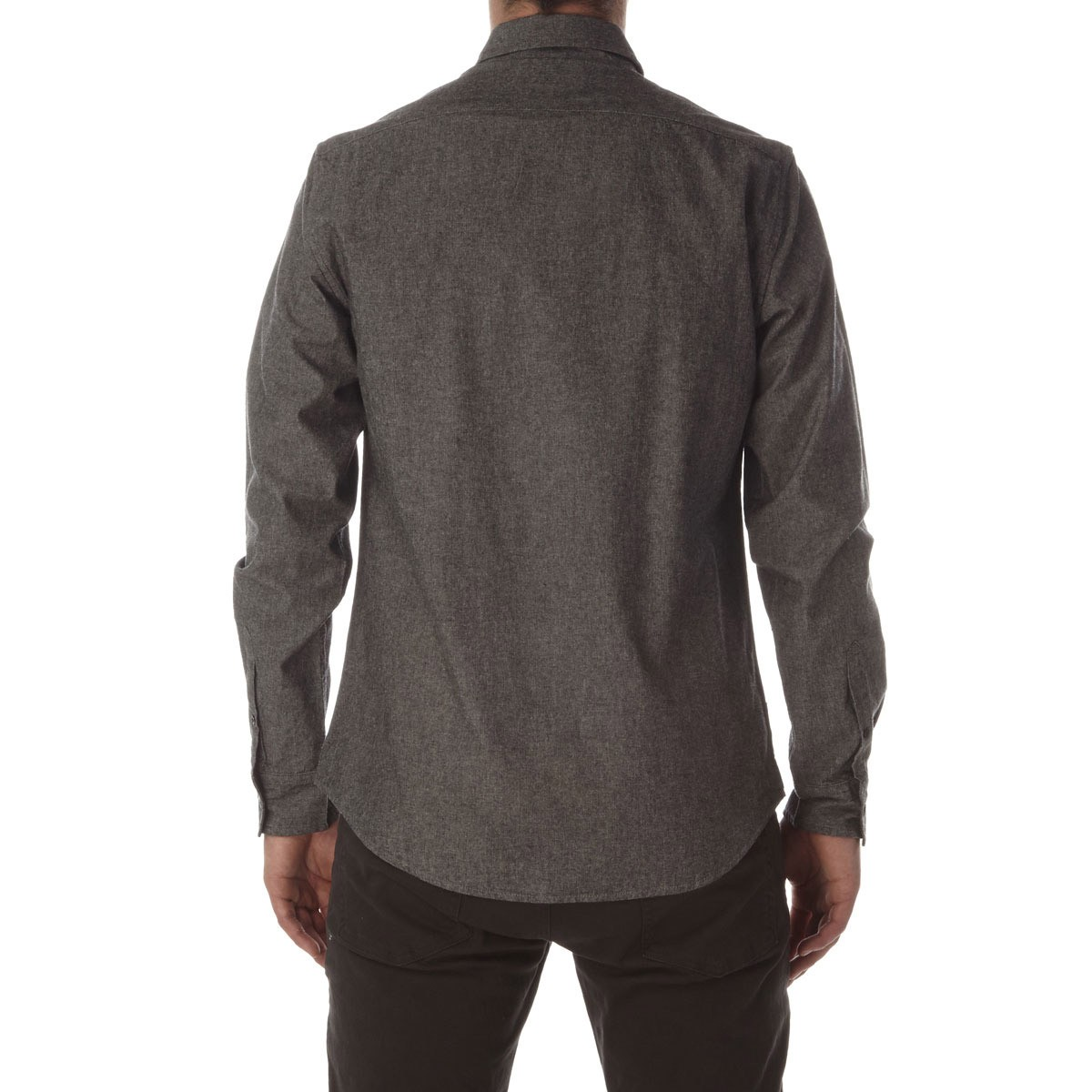 Ccs switch long sleeve woven shirt distressed black for How to make a distressed shirt