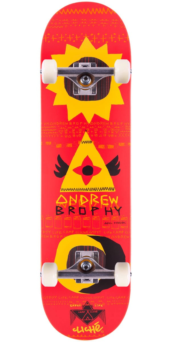 """Cliche Andrew Brophy Gypsy Life Impact Skateboard Complete - 8.25"""""""