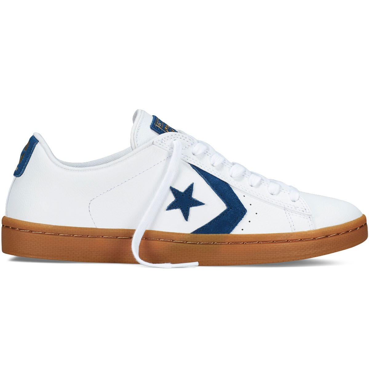 Converse Pro Leather Skate Ox Men White/Blue Shoes