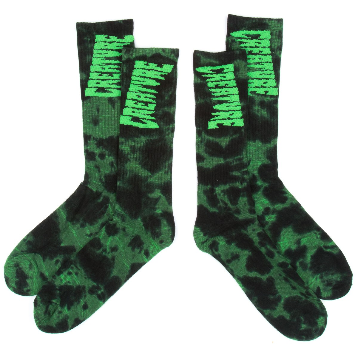 Creature Toxsocks Socks - Black/Green Tie Dye
