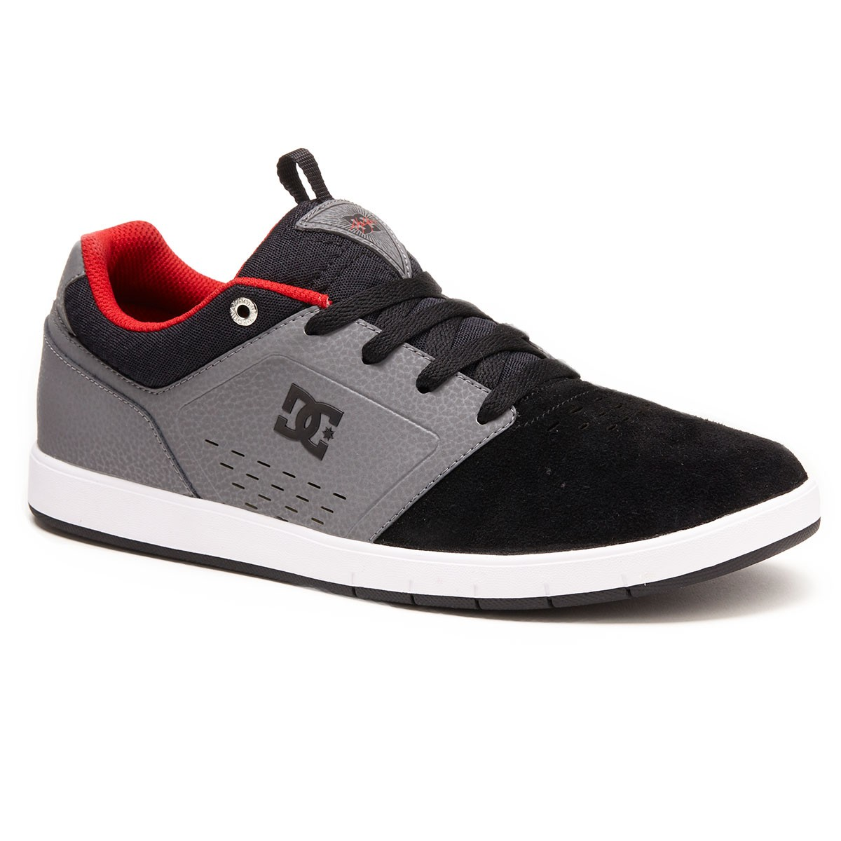 DC Cole Signature Shoes - Grey/Black/Red - 9.5