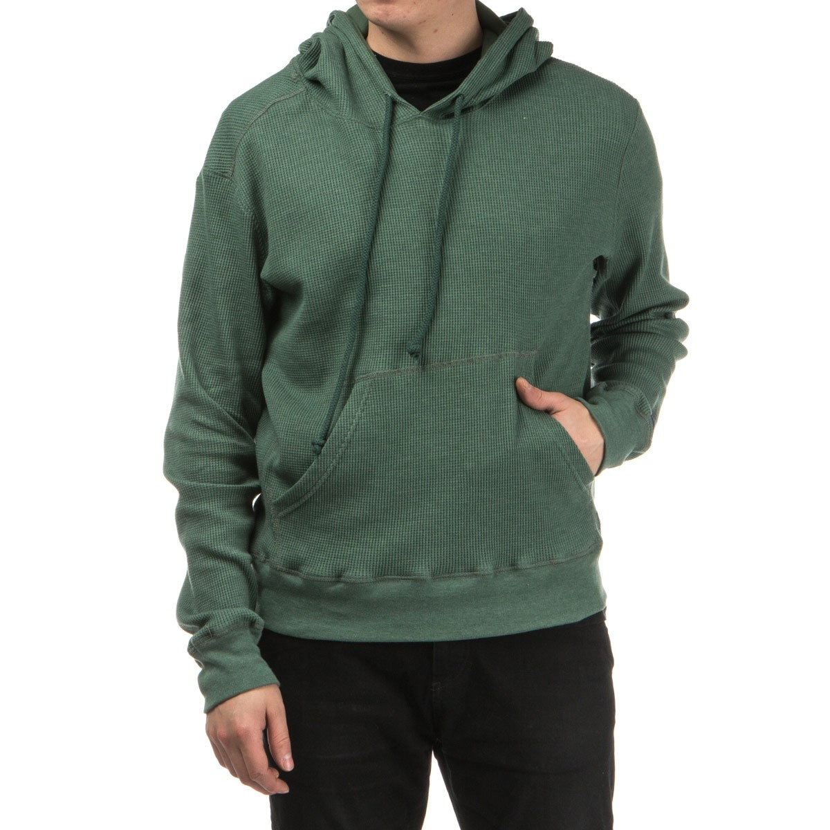 Tiller Thermal Pullover Hoodie - Army Green