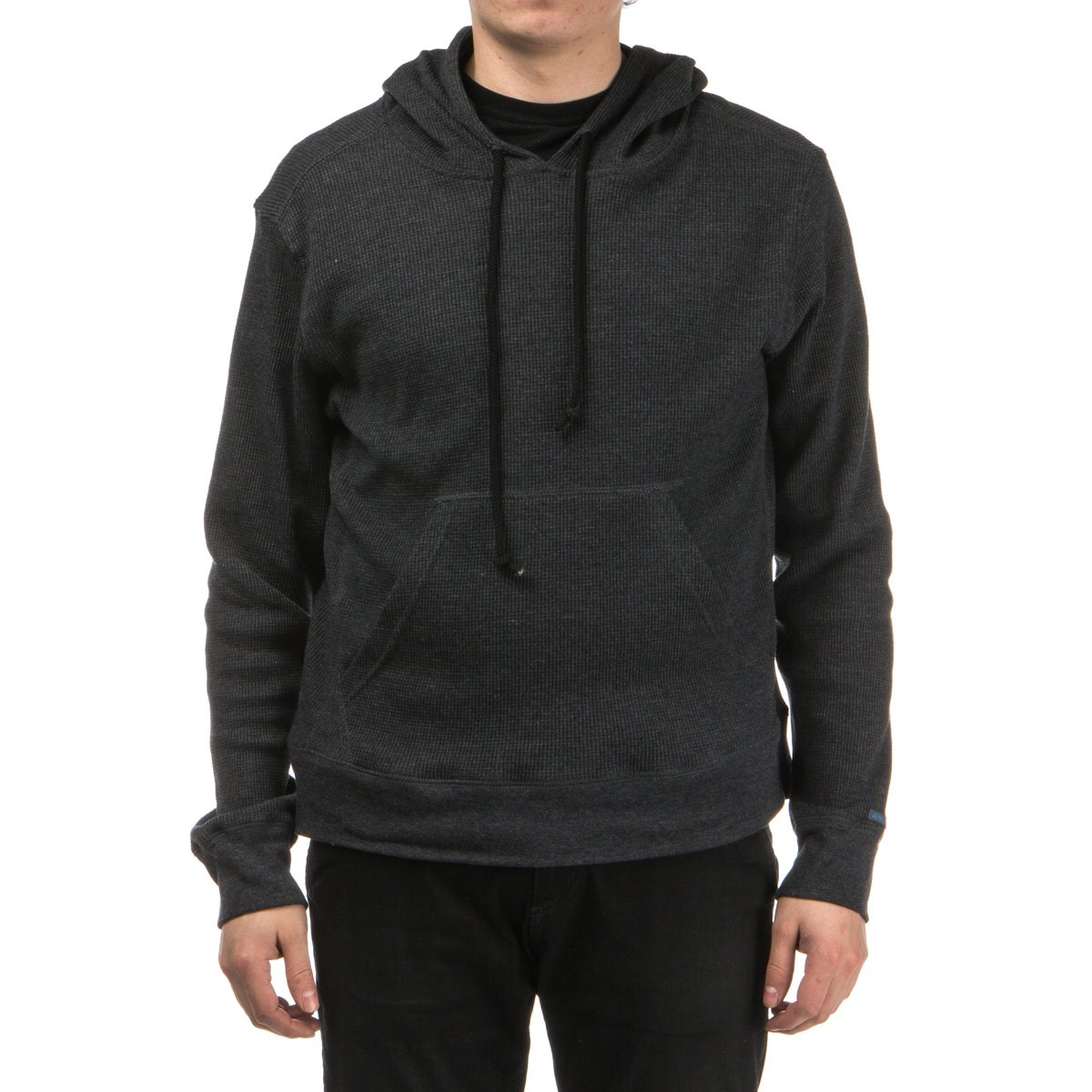 Tiller Thermal Pullover Hoodie - Black Heather
