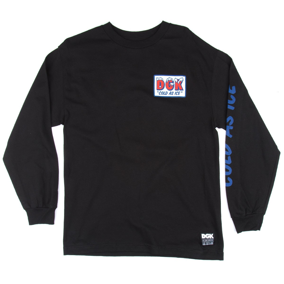 DGK Ice Cold Long Sleeve T-Shirt - Black