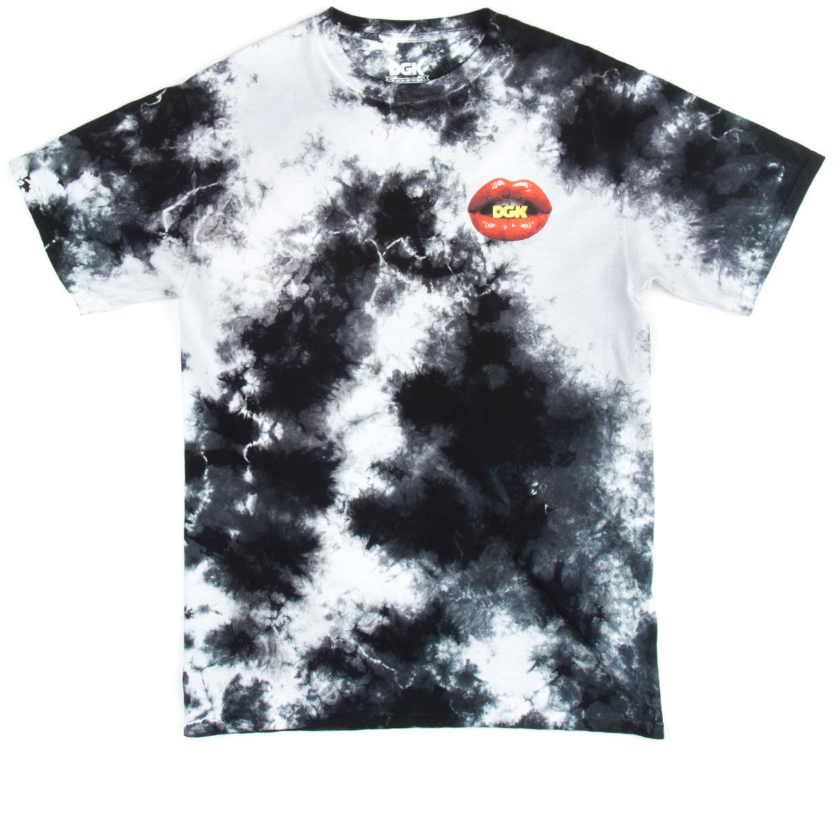 Dgk Lips T Shirt Tie Dye Black