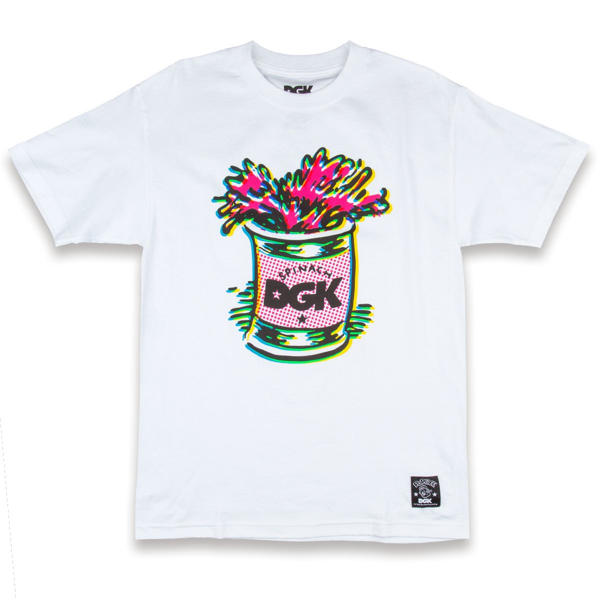 dgk x popeye spinach t shirt white. Black Bedroom Furniture Sets. Home Design Ideas