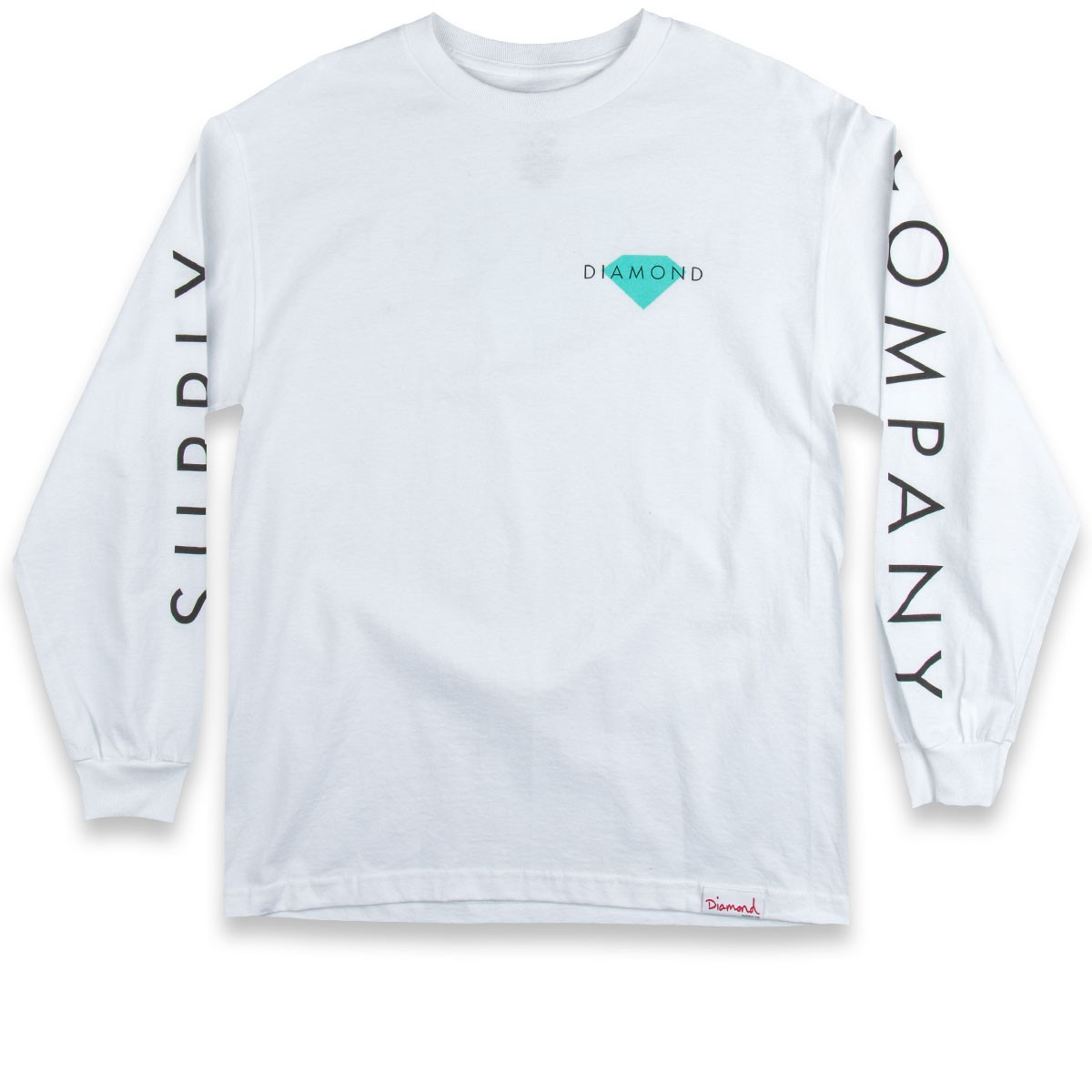 White t shirt company - Diamond Supply Co Diamond Solid Long Sleeve T Shirt White