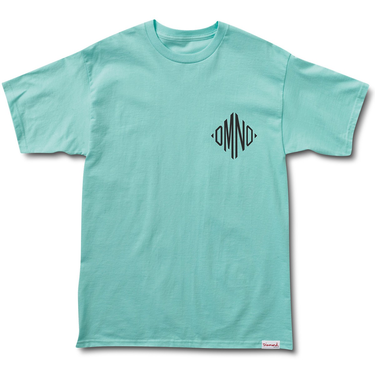 diamond supply co monogram t shirt diamond blue