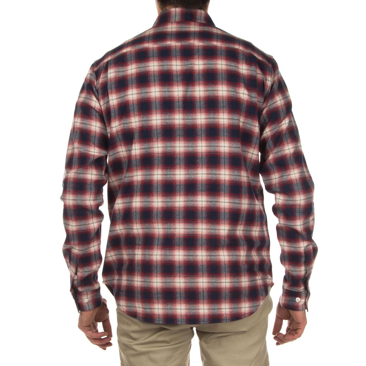 Diamond Supply Co Ombre Plaid Flannel Shirt Red