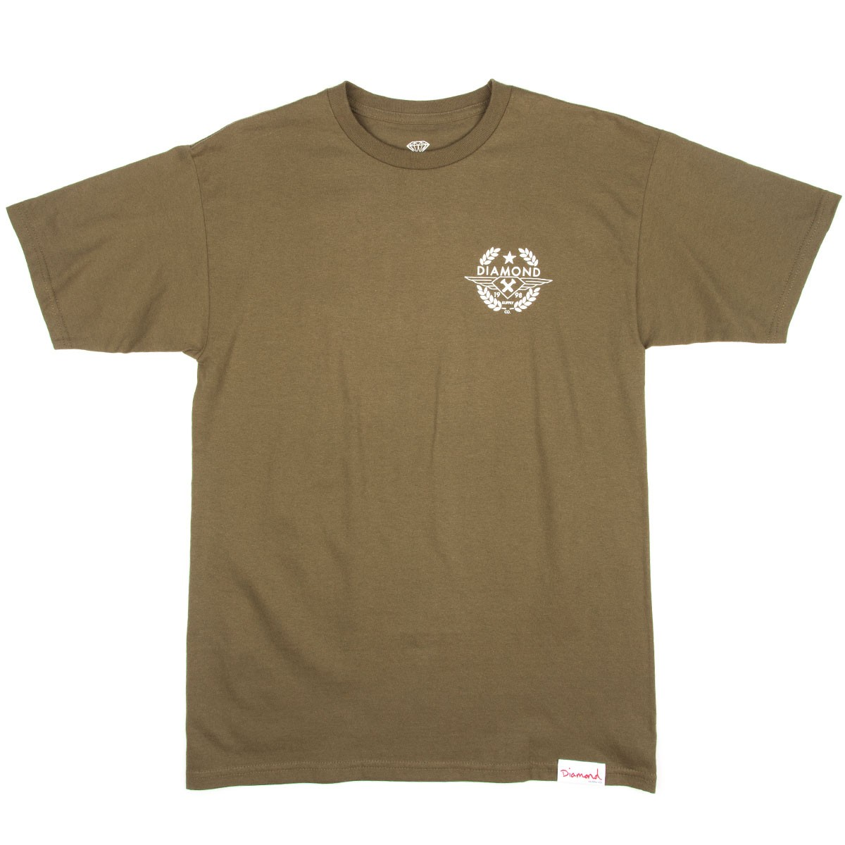 Diamond Supply Co. Shine Crest T-Shirt - Military Green