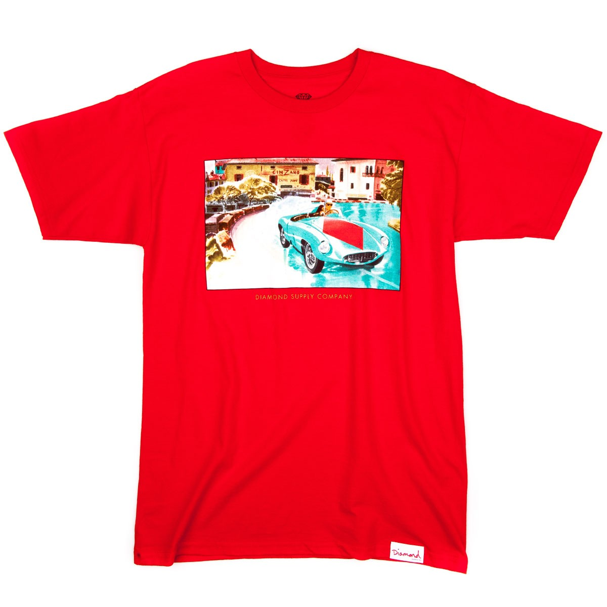 Diamond supply co street race t shirt red for The red t shirt company
