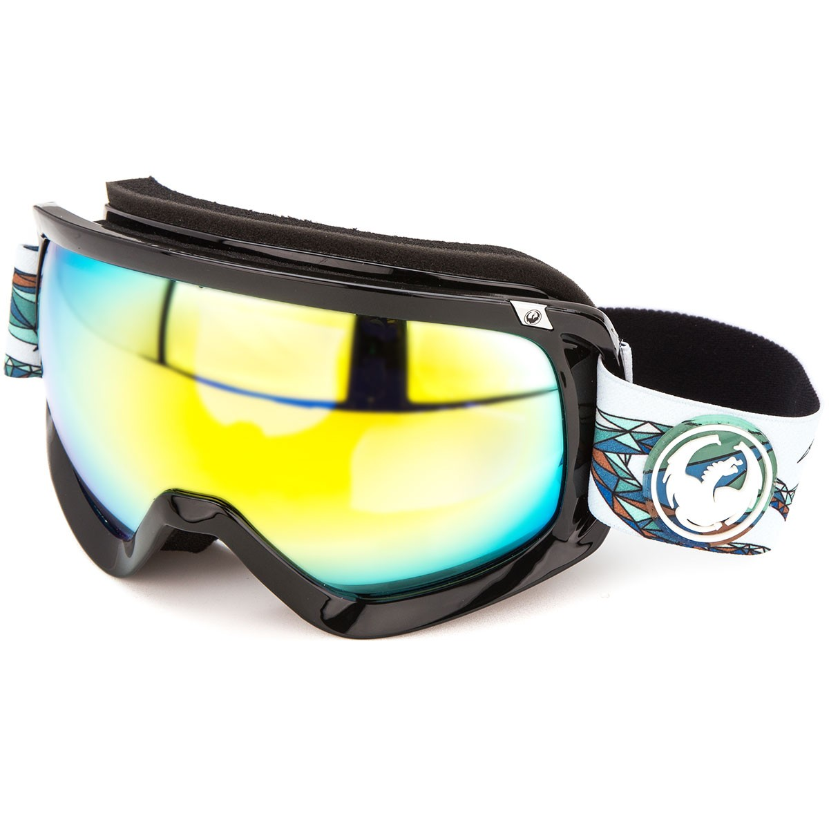 Dragon D3 Snowboard Goggles - Form/Smoke Gold with Yellow Red Ion