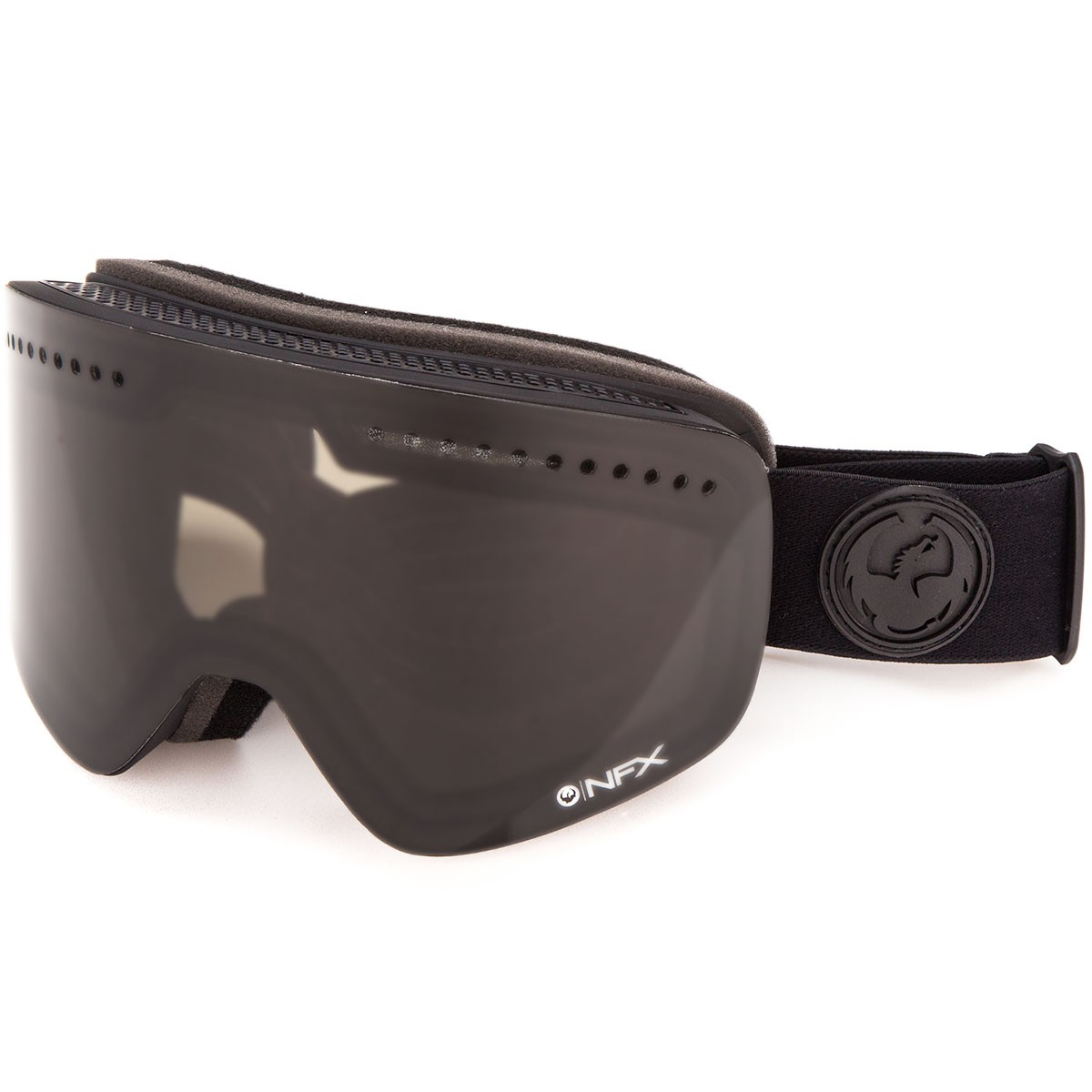 Dragon NFX Snowboard Goggles - Murdered/Dark Smoke with Yellow Red Ion