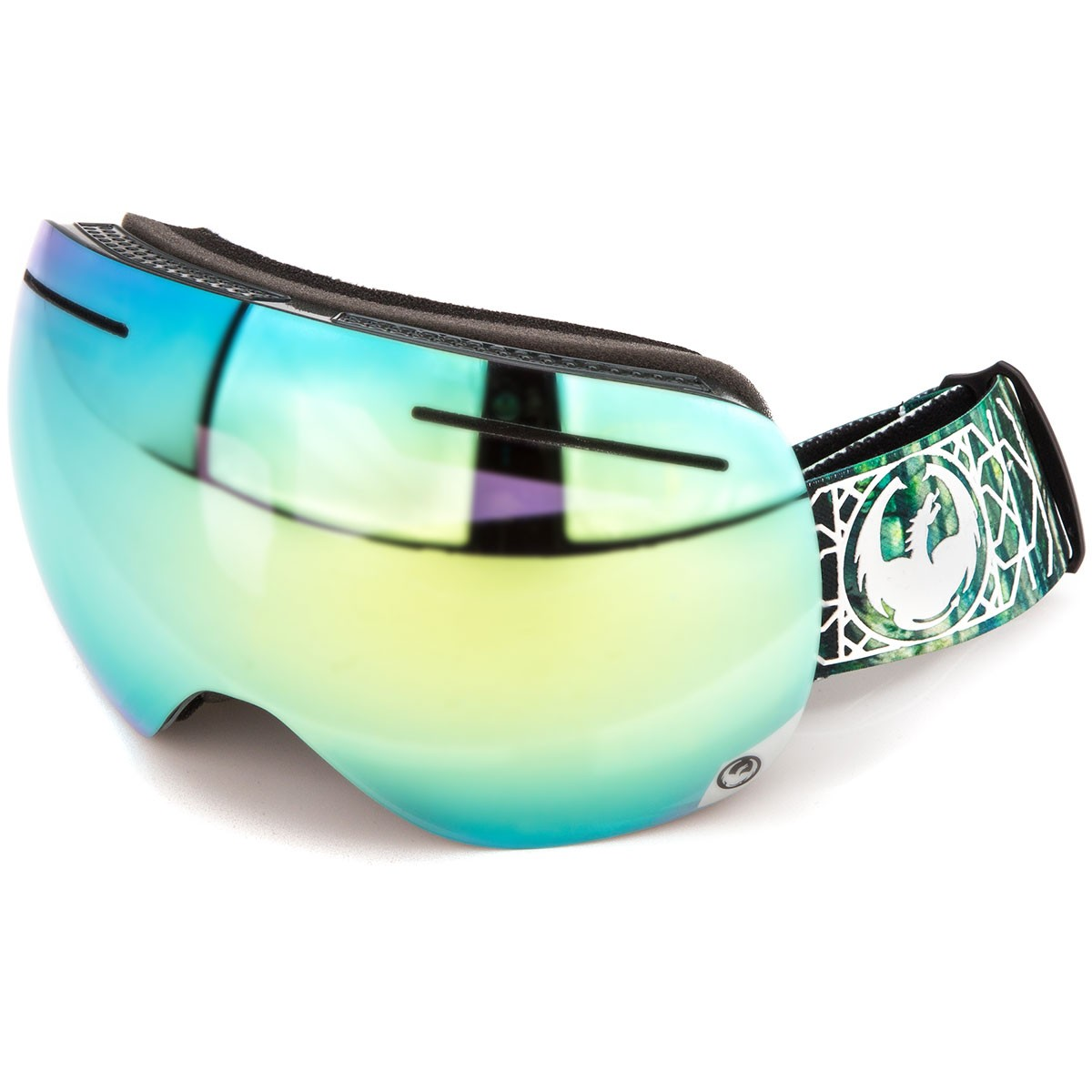 Dragon X1 Snowboard Goggles - Dense/Smoke Gold with Yellow Red Ion