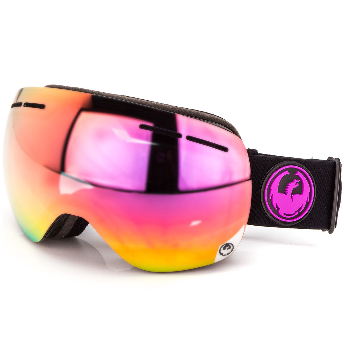 Dragon X1s Snowboard Goggles - Jet/Purple Ion with Yellow Red Ion