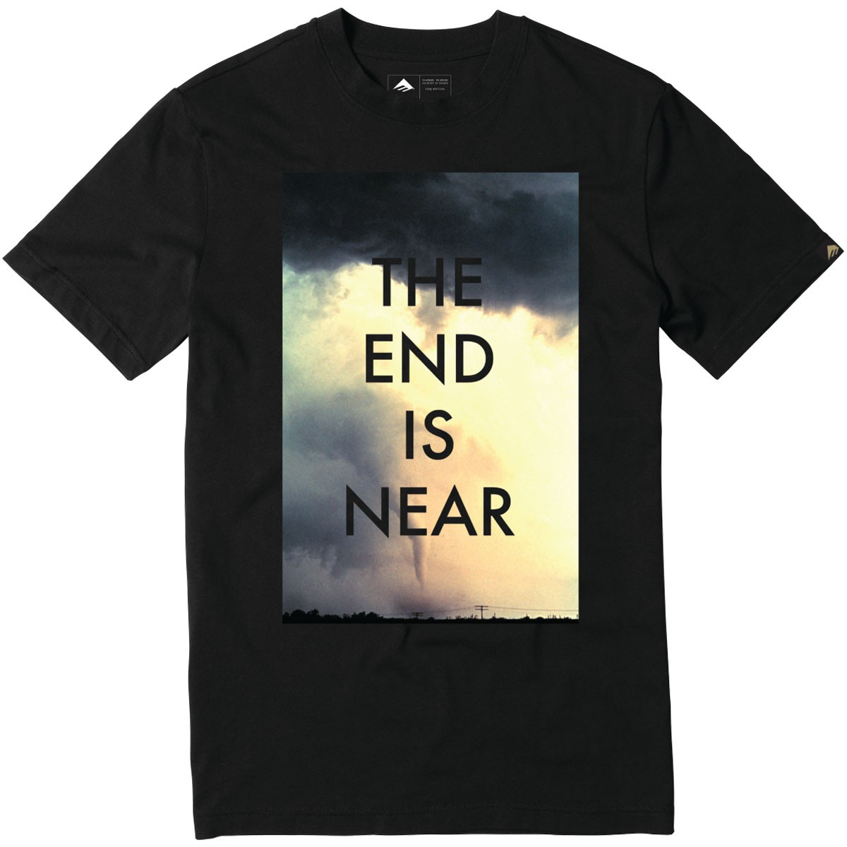 Emerica The End Is Near T Shirt Black
