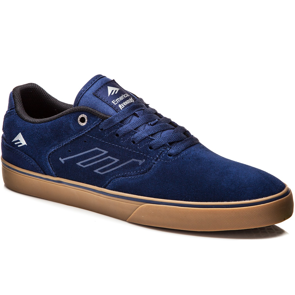 The Reynolds Low Vulc Skate Shoes blue / white / gum Emerica j8i043QiSN