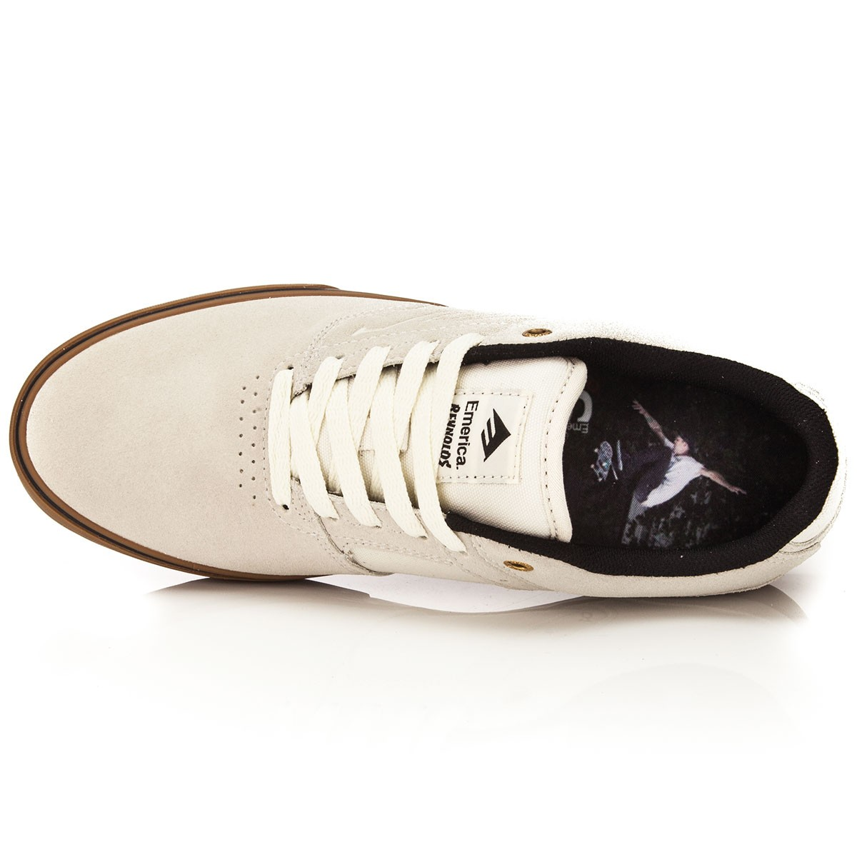 All White Emerica Shoes