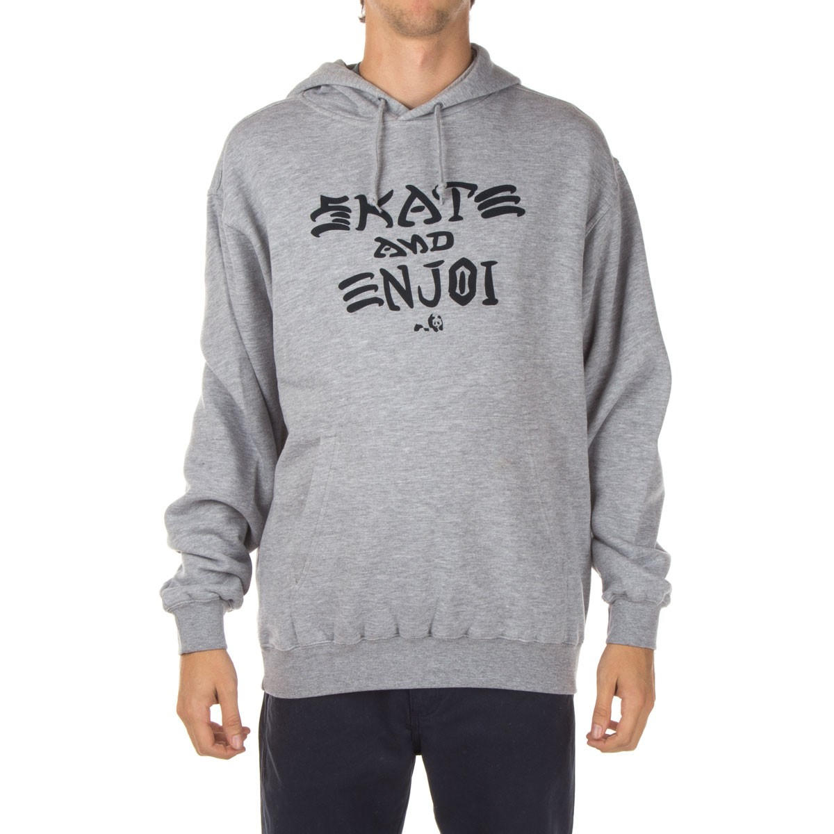 Skate and Enjoi Pullover Hoodie - Heather Grey