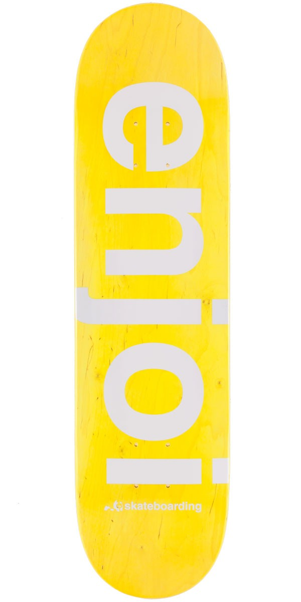 Enjoi Sprayed Spectrum Skateboard Deck - Yellow - 8.00""