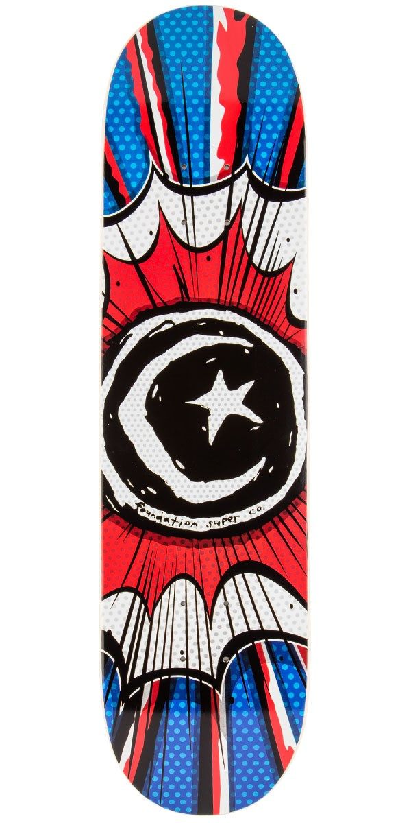 Foundation Star And Moon Comic Skateboard Deck - 8.0""