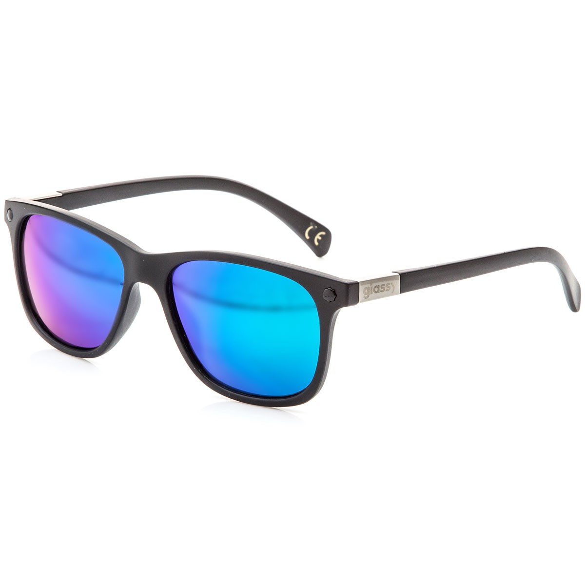Glassy Biebel Sunglasses - Black/Green