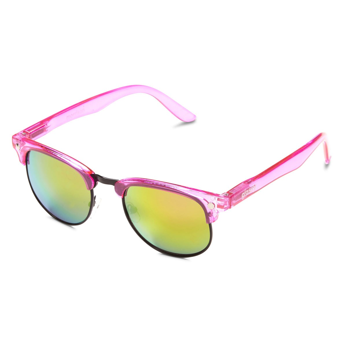 Glassy Morrison Cancer Haters Sunglasses - Pink/Pink Mirror