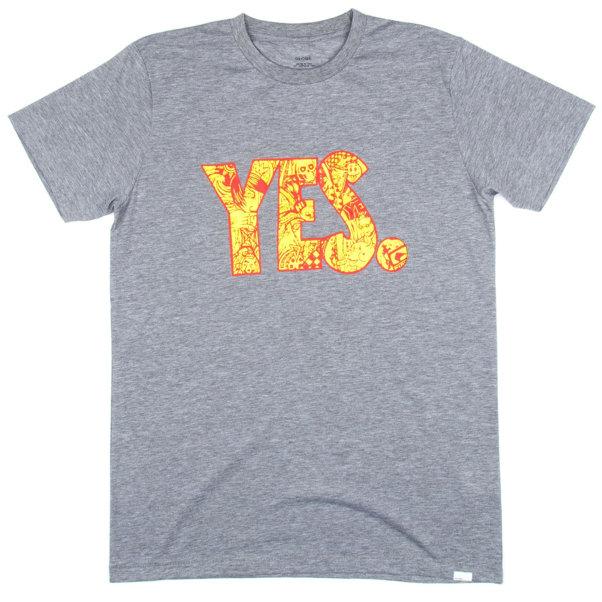 Globe Yes T-Shirt - Grey