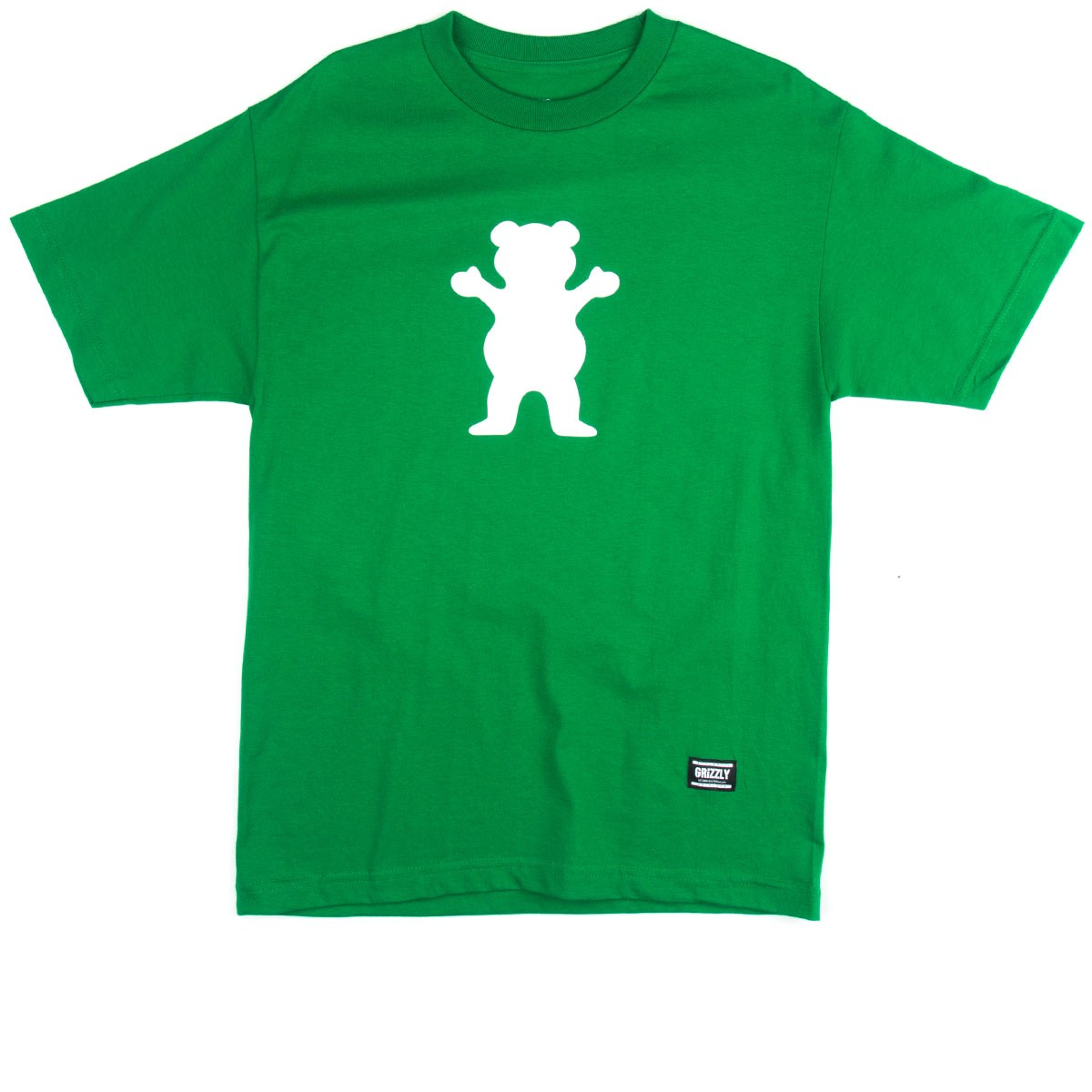 Grizzly Grip OG Bear Logo T-Shirt - Kelly Green
