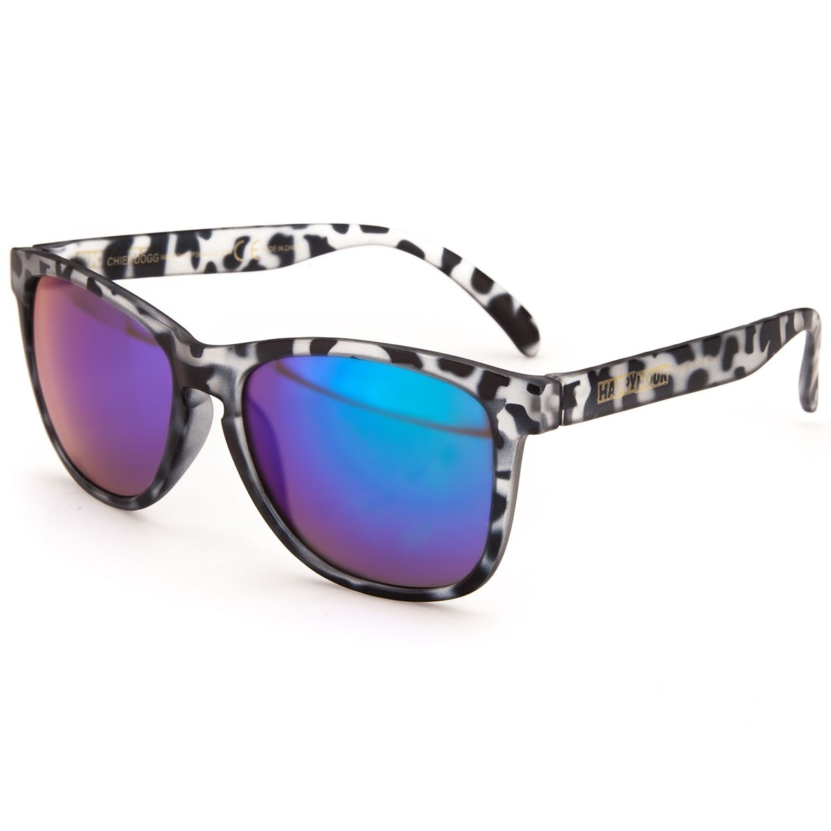 Happy Hour Collin Provost Chief's Dog Sunglasses - Clear/Black Tortoise