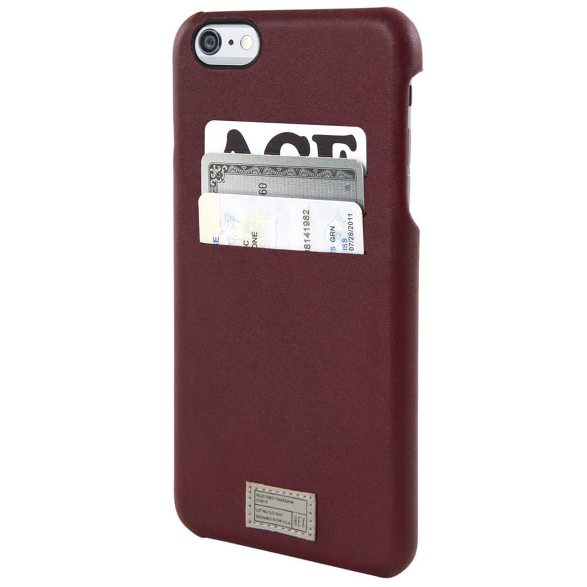Hex iPhone 6+/6S+ Solo Wallet Phone Case - Morocan Red
