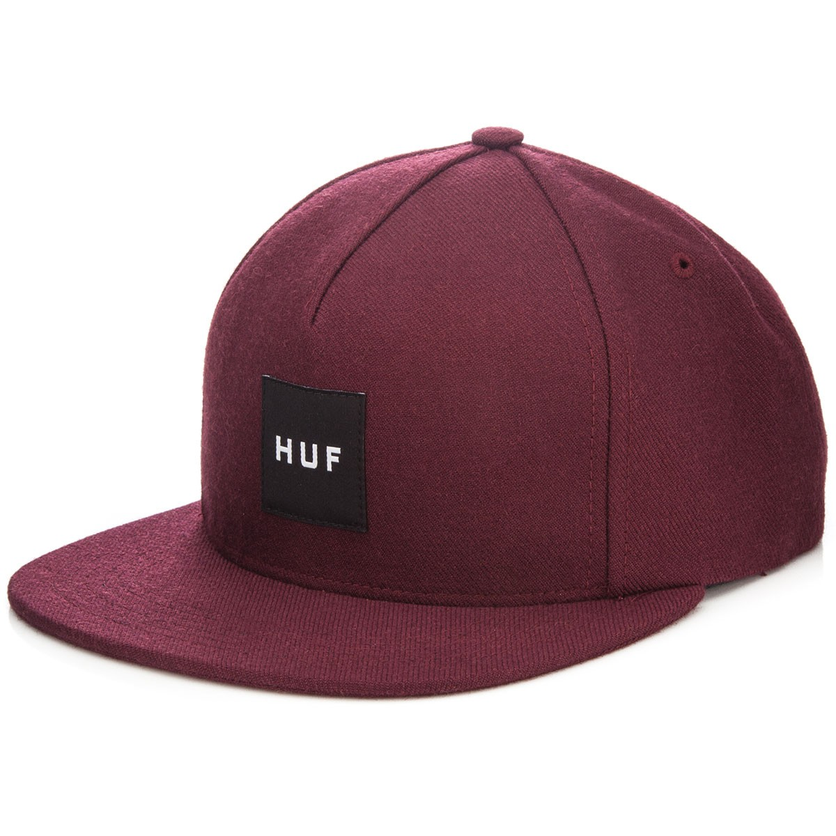 HUF Box Logo Snapback Hat - Wine