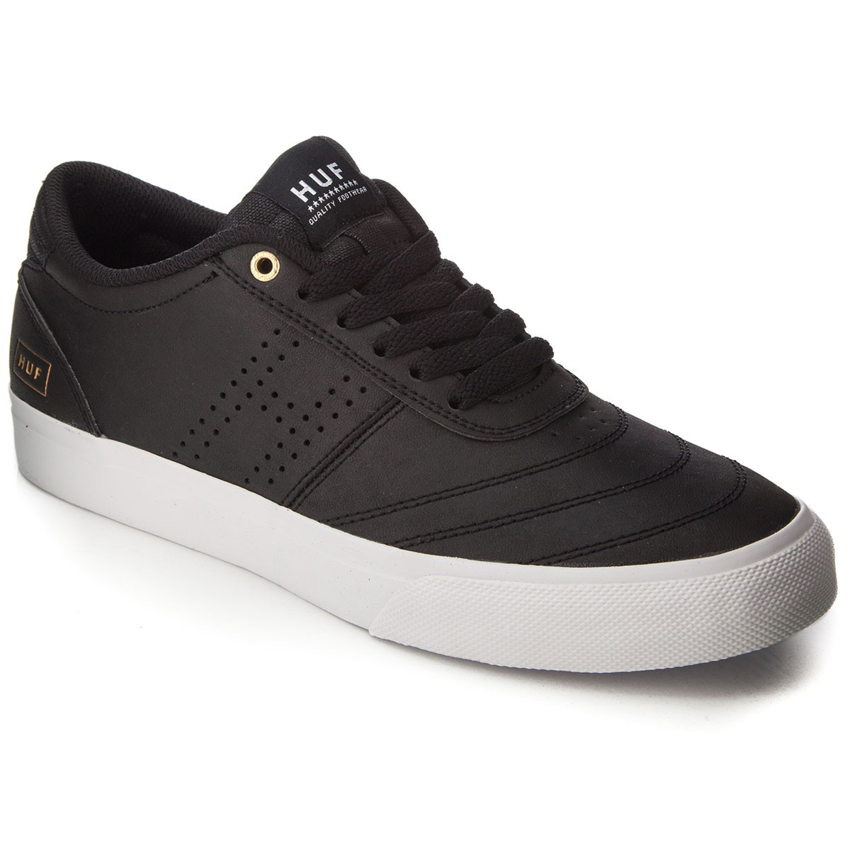 HUF Galaxy Shoes - Black Leather/White - 13.0