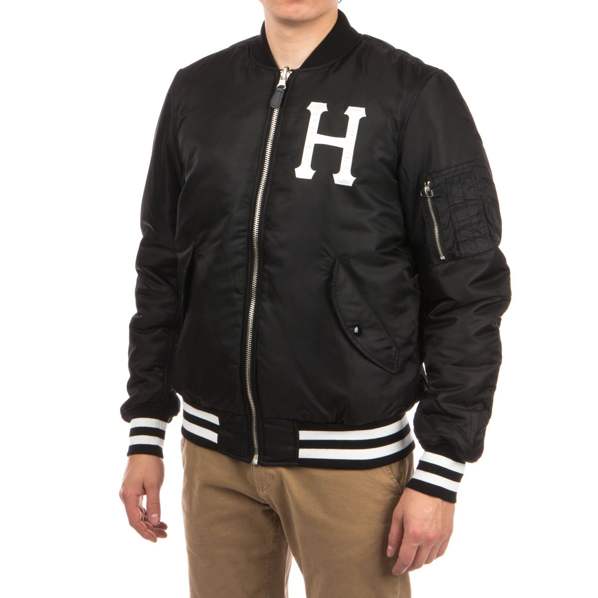 factory authentic wholesale dealer brand new HUF MA-1 Reversible Bomber Jacket - Black/Camo