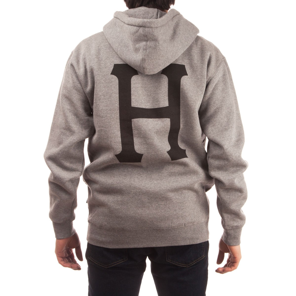 cc1ae7d9c8d1 HUF X Thrasher Classic H Pullover Hoodie - Grey Heather