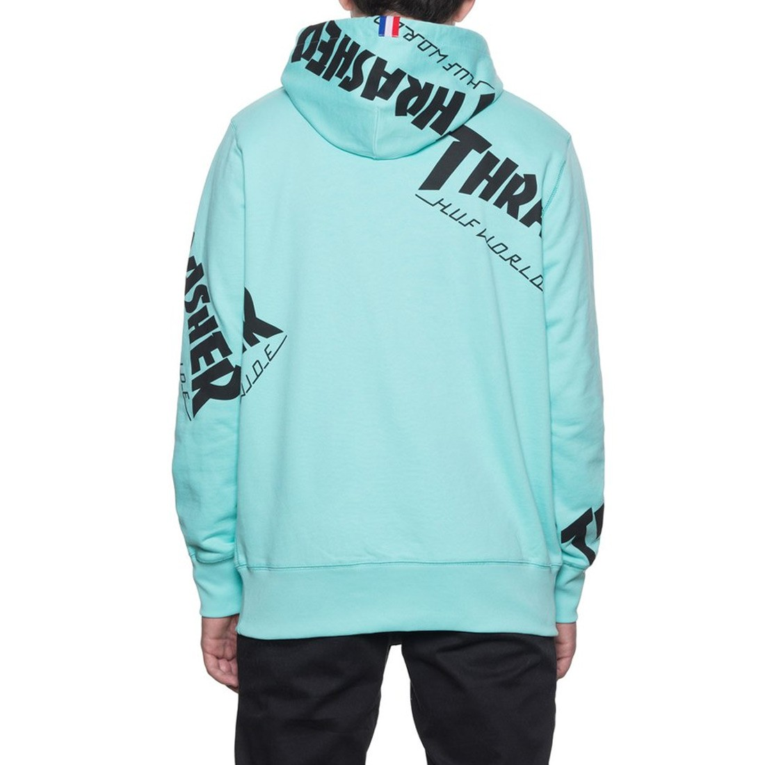 Huf X Thrasher Tour De Stoops All Over Hoodie Mint