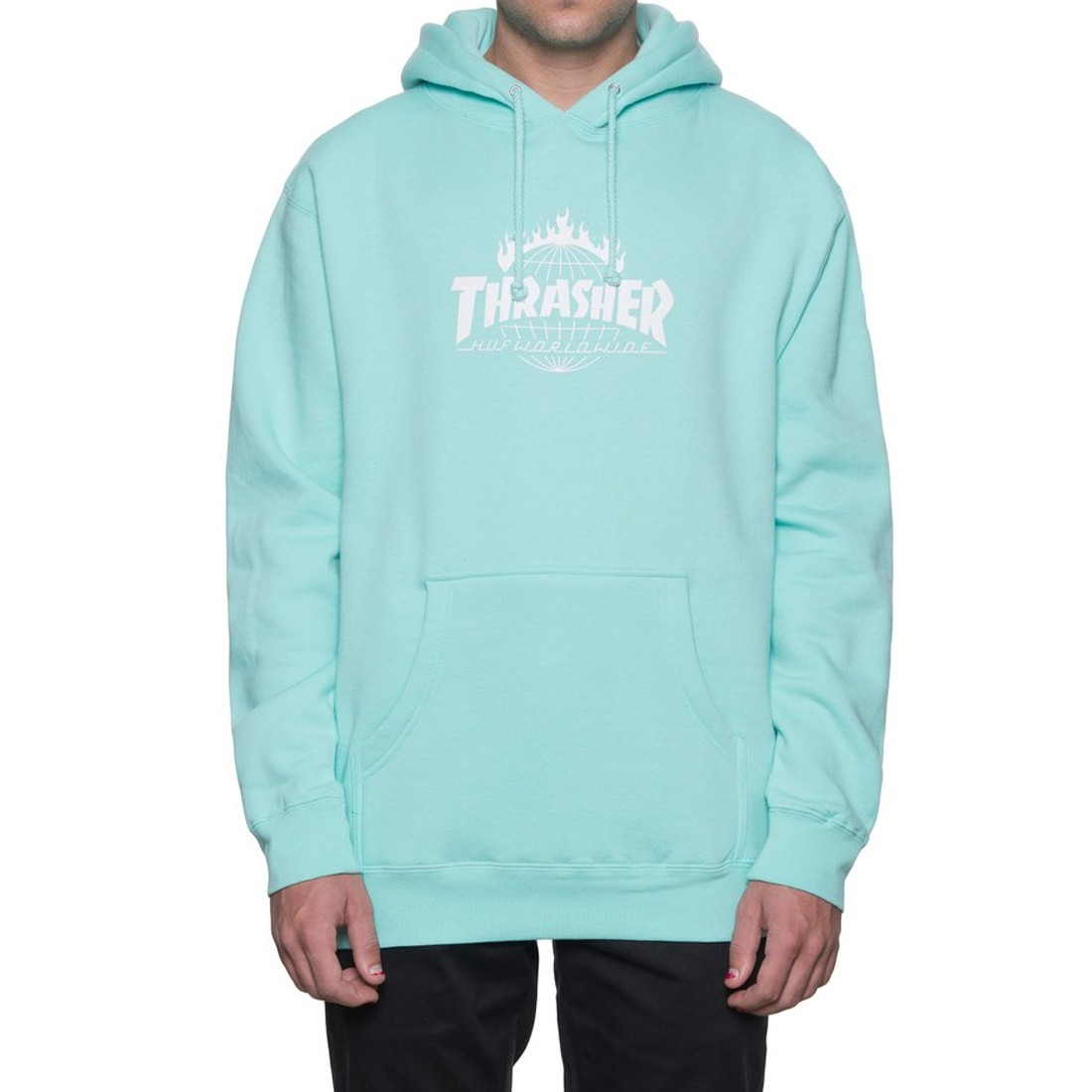 top-rated official elegant in style on feet at HUF X Thrasher Tour de Stoops Hoodie - Mint